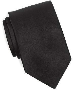 Drakes Drake's Silk Solid Tie in Black