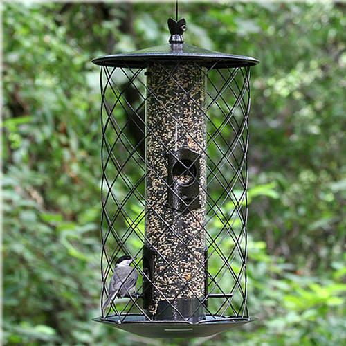 Birdscapes The Preserve Caged Tube Bird Feeder