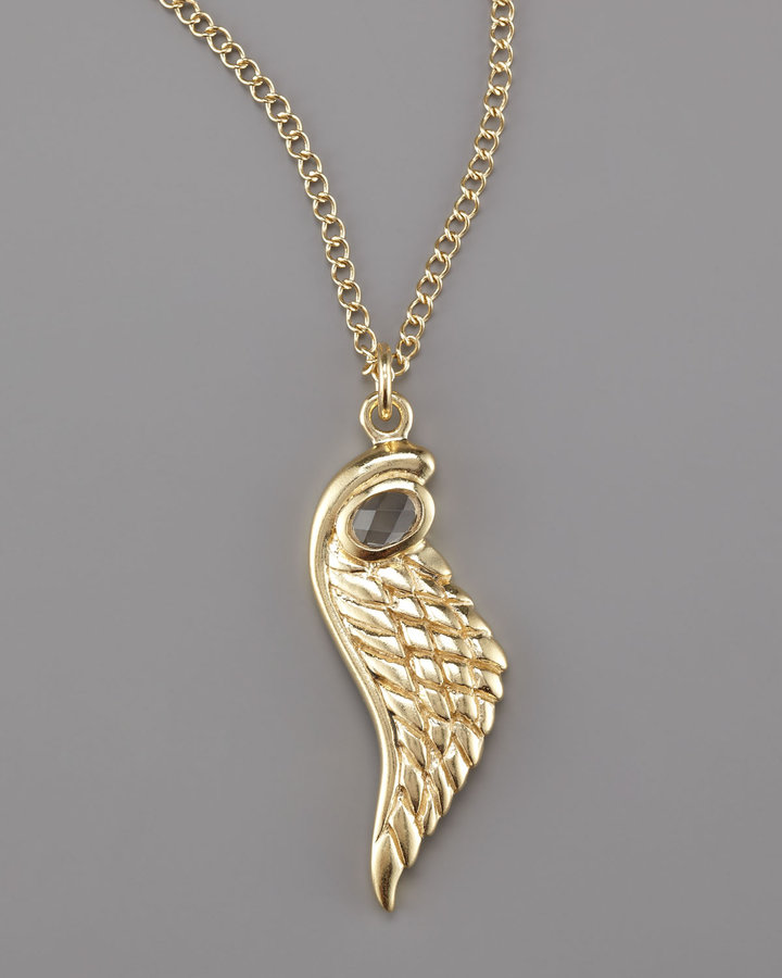 Amy Zerner Angel Wing Pendant Necklace