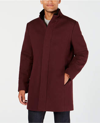 Alfani Men's Mock Collar Textured Top Coat