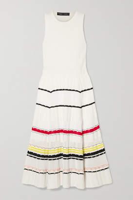Proenza Schouler Striped Stretch-knit Midi Dress - Cream