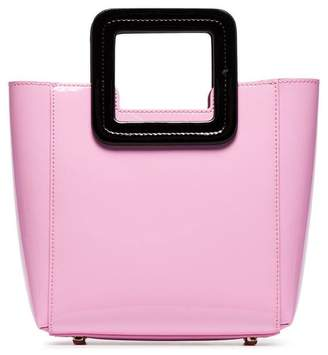Staud pink and black Shirley mini patent leather tote bag