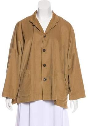 eskandar Collared Long Sleeve Jacket