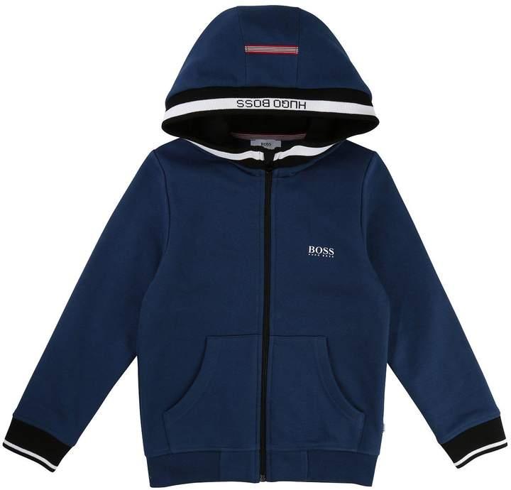 Boys Zip Through Hooded Tracksuit Jacket