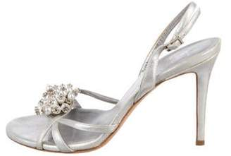 Norton Co. Mary Metallic Leather Sandals