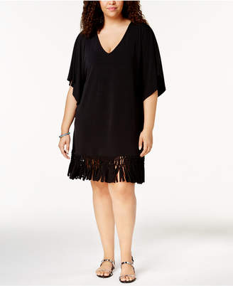 Dotti Plus Size Beach Blossom Tunic Cover-Up Women's Swimsuit