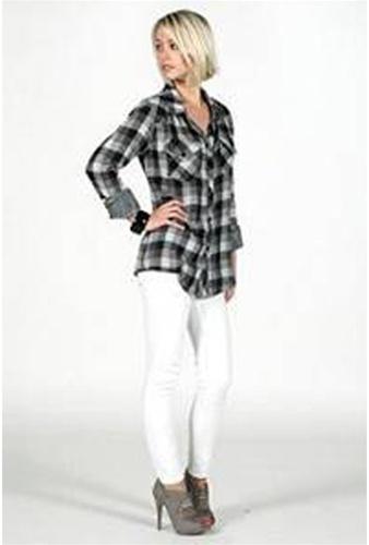 Rails Kendra Black and Gray Plaid Gauze Shirt-!
