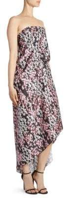 Cédric Charlier Strapless Floral Dress