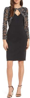 Tadashi Shoji Lace Long Sleeve Sheath Dress