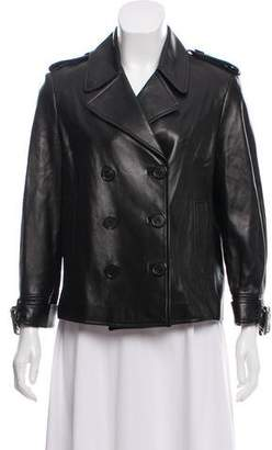 Michael Kors Double-Breasted Leather Jacket
