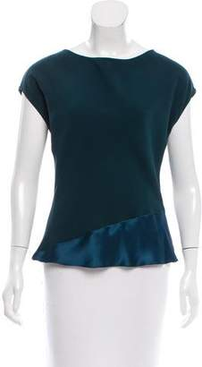 Narciso Rodriguez Two-Tone Silk Top w/ Tags