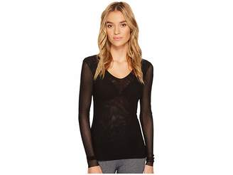 Only Hearts Tulle Long Sleeve V-Neck