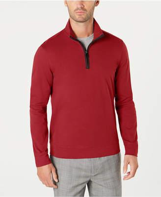 Tasso Elba Men's Piped 1/4-Zip Sweater