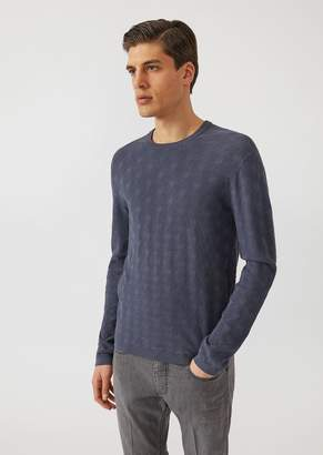 Emporio Armani Sweater With All Over Jacquard Pattern