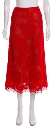 Marchesa Lace Midi Skirt w/ Tags