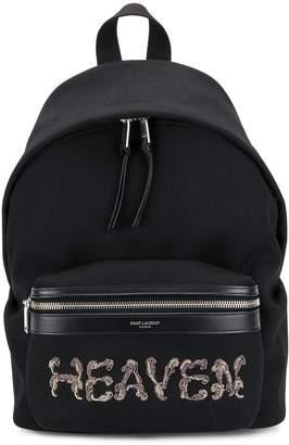 Saint Laurent Heaven embellished backpack