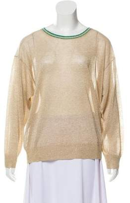 Closed Metallic Lightweight Knit Top w/ Tags