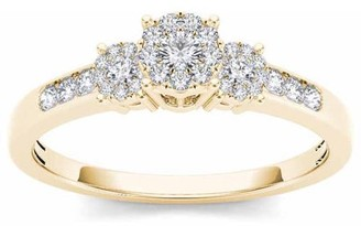 Trilogy Imperial Diamond Imperial 1/3 Carat T.W. Diamond 10kt Yellow Gold Imperial Set Engagement Ring
