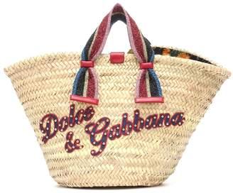 Dolce & Gabbana Kendra straw tote