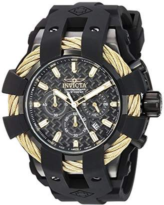 Invicta Men's 'Bolt' Quartz Stainless Steel and Silicone Casual Watch