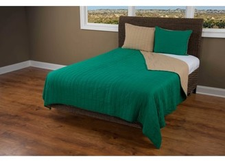"""Rizzy Home Rizzy home BT1411 EMERALD GREEN 68""""x86"""" Cotton voile Quilt"""