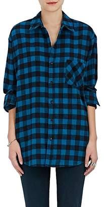 ADAPTATION Women's Warren Lotas Plaid Cotton Flannel Shirt