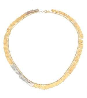 SIA Taylor Fringe 18K Yellow& White Gold Necklace