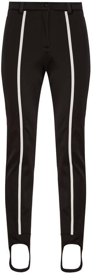FENDI Contrast-stripe stirrup-hem ski trousers