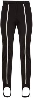 Contrast-stripe stirrup-hem ski trousers