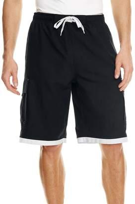 Burnside Swim Striped Board Shorts.B9401 - Black / White