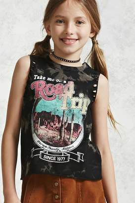 Forever 21 Girls Graphic Muscle Tee (Kids)