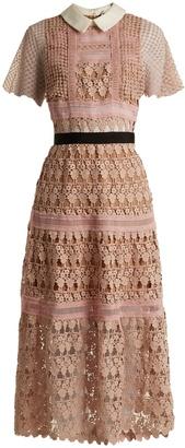 SELF-PORTRAIT Floral-vine lace midi dress $615 thestylecure.com