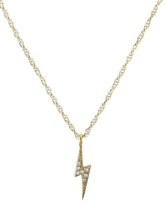 Kris Nations Pave Lightning Bolt Charm Necklace