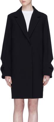 Victoria Beckham VICTORIA, Gathered sleeve wool coat