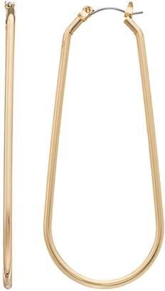 JLO by Jennifer Lopez Gold Tone Oval Hoop Earrings