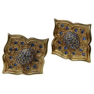 Jean Louis Scherrer Vintage Jean-louis Scherrer Gold Metal Earrings
