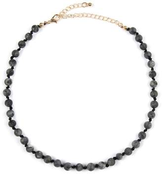 Riah Fashion 6mm Natural-Stone-Necklace