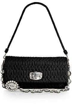 Miu Miu Women's Double-Strap Quilted Leather Shoulder Bag