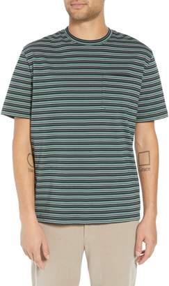 Vince Regular Fit Multistripe Pocket T-Shirt