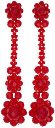 Simone Rocha Red Victorian Earrings