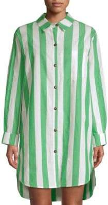 Mara Hoffman Bennet Cotton Shirt Coverup
