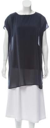 Fabiana Filippi Short Sleeve Woven Top