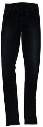 Gold Sign Mid-Rise Jeans