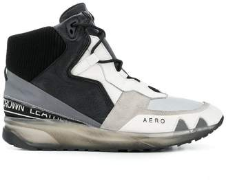 Leather Crown Aero hi-top sneakers