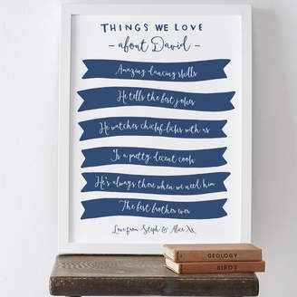 Old English Company Things We Love About Brother Print