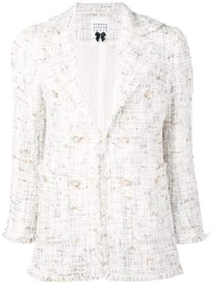 Edward Achour Paris fitted tweed blazer