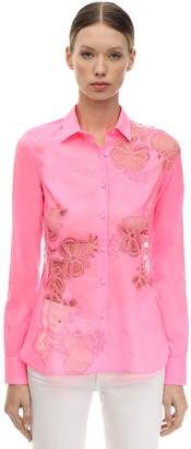 Ermanno Scervino Lace Cotton Poplin Shirt