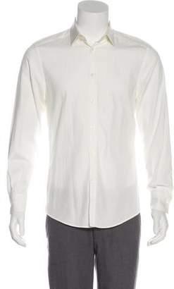 Versace Woven Textured Dress Shirt