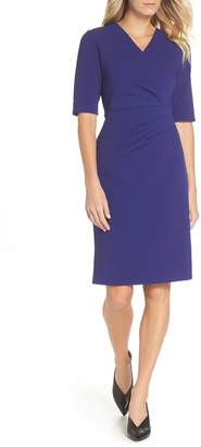 Tahari Scuba Crepe Sheath Dress