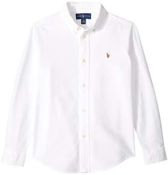Polo Ralph Lauren Cotton Oxford Sport Shirt Boy's Long Sleeve Button Up